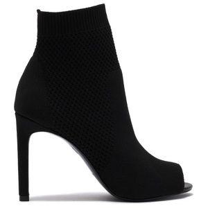 NWT Ideal Knit Peep Toe Sock Bootie